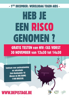 affiche depistage.be forest NL