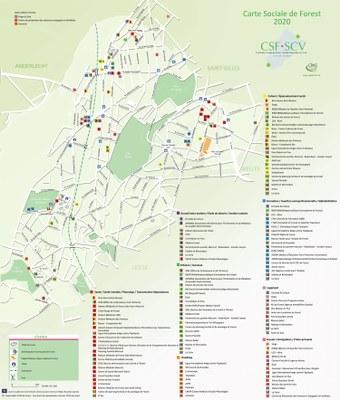 Carte sociale de Forest FR 2020